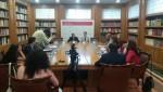 Jerónimo Saiz (izda.) y Miquel Roca (dcha.), patrono y presidente de la FEPSM, respectivamente, durante la rueda de prensa que ha precedido a la jornada.