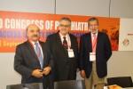 Miguel Gutiérrez, presidente de la SEP; Pedro Ruiz, presidente de la WPA; y Jerónimo Saiz, presidente de la FEPSM, organizadores del Congreso Mundial de Psiquiatría.
