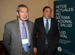 El Presidente de la FEPSM, Jerónimo Saiz, y el consejero de Sanidad de la Junta de Castilla y León, Antonio Sáez.